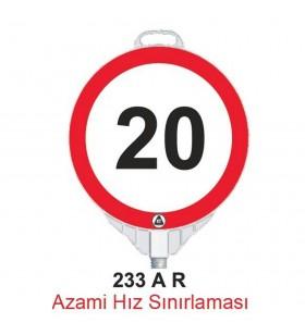 Azami Hız 20km Levhası 233