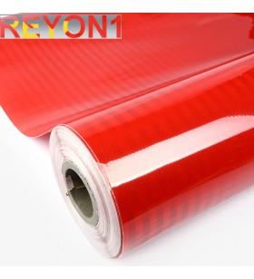 Kırmızı Renk BASKILIK Reflektif Folyo 1,24M X 50M Petekli Avery Desen