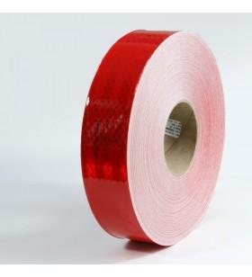 Kırmızı Reflektif Bant 5cm x 50mt Reflekt Reflektör Reflektif Petekli Şerit Bant TÜVTÜRK Uyumlu