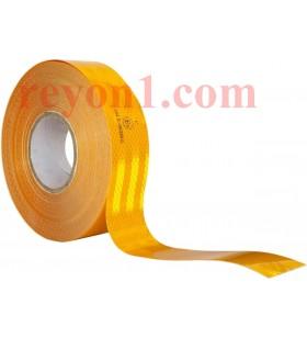 Sarı Reflektif Bant 5cm x 50mt Reflekt Reflektör Reflektif Petekli Şerit Bant TÜVTÜRK Uyumlu