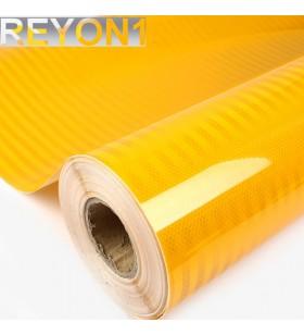 Sarı Renk BASKILIK Reflektif Folyo 1,24M X 50M Petekli Avery Desen