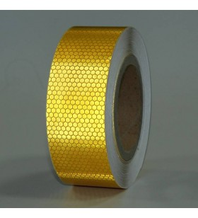 Sarı Reflektif Bant 5cm x 10mt Petekli
