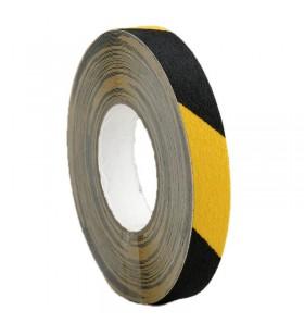 Sarı-Siyah Kaydırmaz Bant 25mm x 25mt