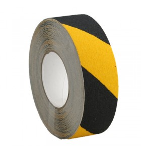 Sarı-Siyah Kaydırmaz Bant 50mm x 25mt