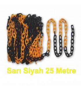 Sarı - Siyah Plastik Zincir 25 metre