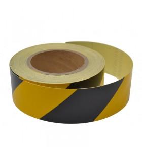 Sarı-Siyah Reflektif Bant 5cm x 46mt